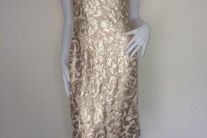Beige & Bronze Sequin Dress