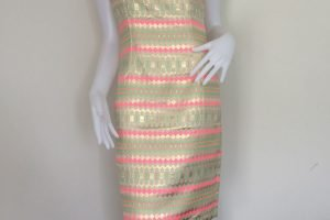 Gold Stamp Dress
