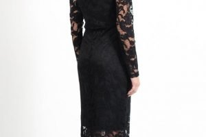 Off The Shoulder Lace Gown Back