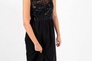 Sequin Bodice Hi Low Dress