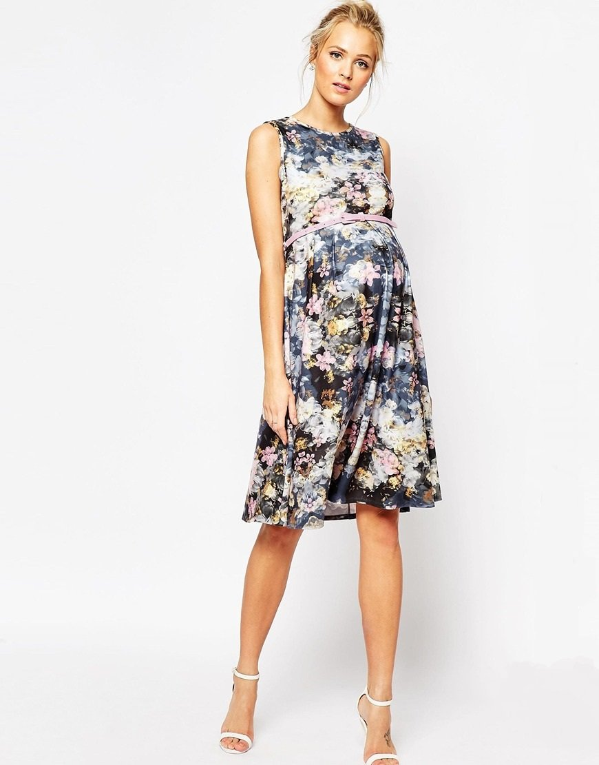 Product categories maternity dresses to hire floral midi dress with pink belt ombrellifo Image collections